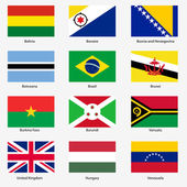 Set Flags of world sovereign states Vector illustration Set number 3 Exact colors Easy changes