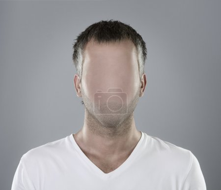 Photo for Anonymous faceless person portrait or real social media icon - Royalty Free Image