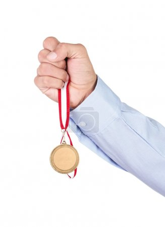 Gold medal in hand