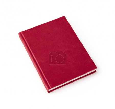 Photo for Blank red hardcover book isolated on white background with copy space - Royalty Free Image