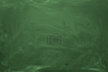 Photo for Blank green chalkboard, blackboard texture with copy space - Royalty Free Image