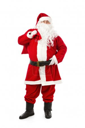 Photo for Santa Claus isolated on white background - Royalty Free Image