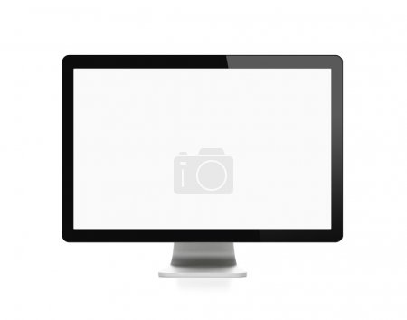 Blank computer monitor with clipping path