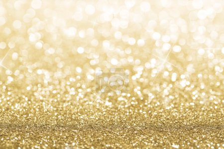 Photo for Gold defocused glitter background with copy space - Royalty Free Image