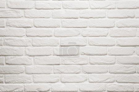 Photo pour Texture de mur de briques blanches vides, fond avec espace de copie - image libre de droit