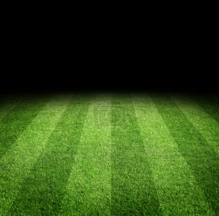 Photo for Close up of soccer or football field at night with copy space - Royalty Free Image