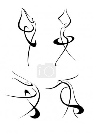 An abstract image of ballet dancer