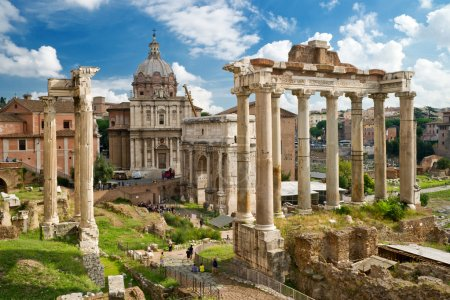 Photo pour Forum romain à rome, Italie - image libre de droit