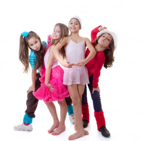 Photo for Kids dance school, ballet, hiphop, street,funky and modern dancers - Royalty Free Image
