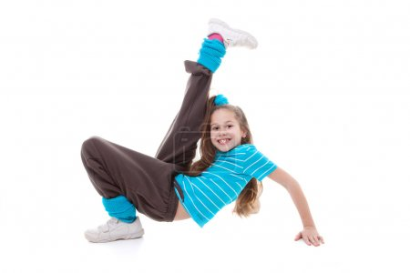 Photo for Child dancer doing dance exercising - Royalty Free Image