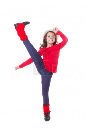 Photo for Fit healthy young girl doing modern dancing - Royalty Free Image