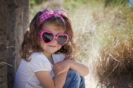 Summer kid wearing sunglasses