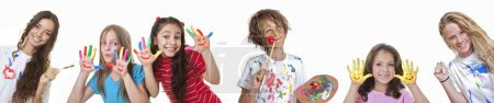 Photo for Kids art and craft classes or summer school - Royalty Free Image