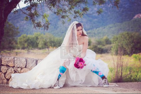 young fashion runaway bride.