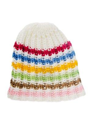 sombrero de punto multicolor, aislado en blanco