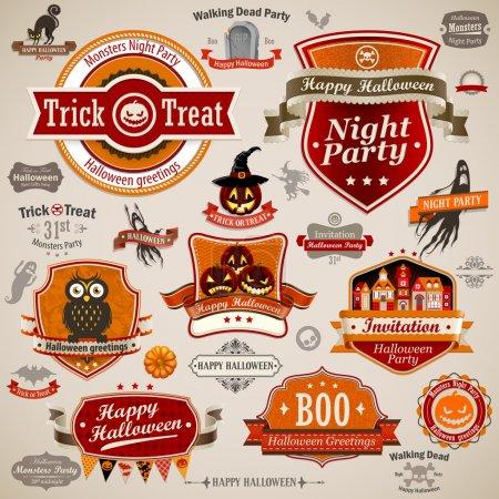 Halloween vintage set