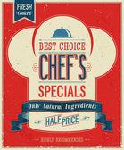 Vintage Chefs specials Poster