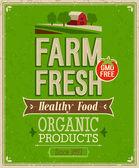 Vintage Farm Fresh Poster
