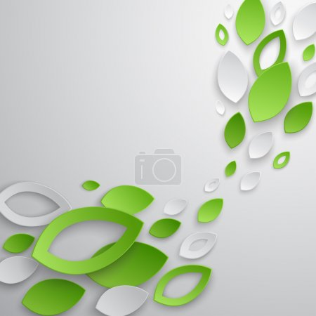 Illustration for Green leaves abstract background. Vector illustration. - Royalty Free Image