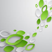 Green leaves abstract background Vector illustration