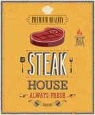 Vintage Steak House Poster