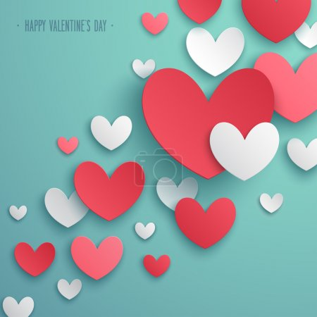 Illustration pour Valentines Day fond abstrait. Illustration vectorielle . - image libre de droit