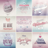 Valentines day set - labels emblems and other decorative elements