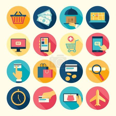 Illustration pour Ensemble d'icônes Web acheter et vendre thème. Illustration vectorielle . - image libre de droit