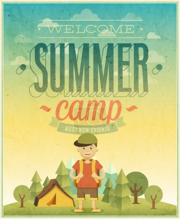 Summer camp poster.