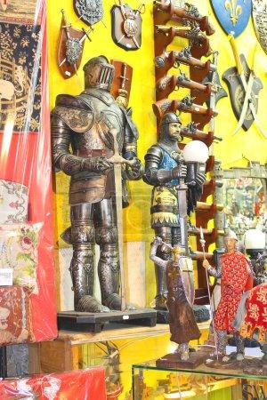Sale of souvenirs in abbey of Mont Saint Michel. Normandy, Franc