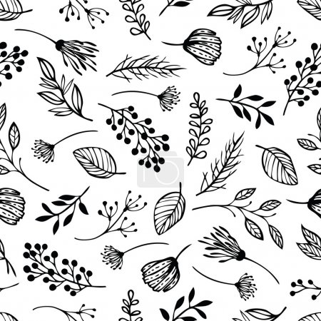 Illustration for Forest herbs background - Royalty Free Image