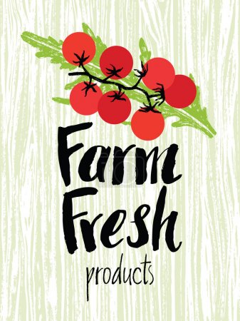 Farm fresh design card