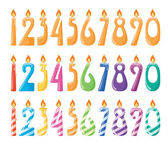 Set of number candles