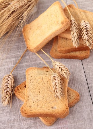 Rusk and wheat
