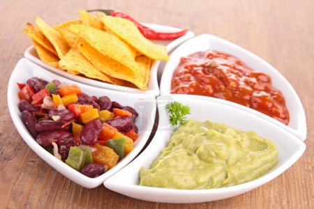Photo for Assortment of mexican dips - Royalty Free Image