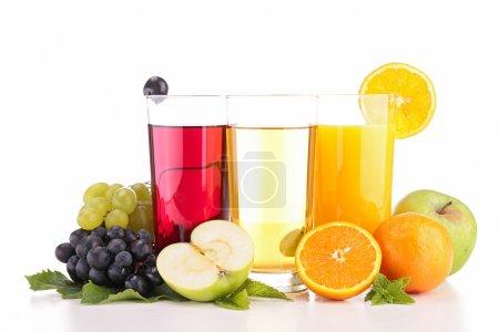 Fruits juice isolated