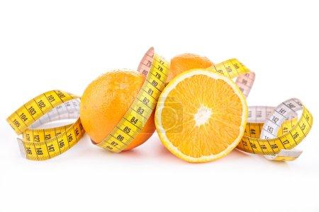 Orange and measuring tape