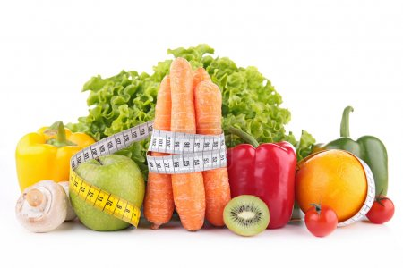 Photo for Diet food isolated - Royalty Free Image
