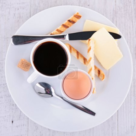Photo for Breakfast with coffee and egg - Royalty Free Image