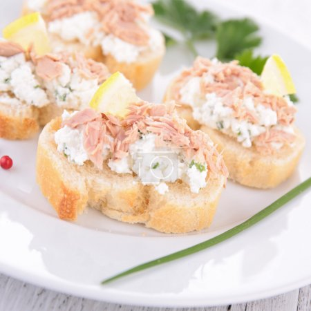 Photo for Canape with tuna and cheese - Royalty Free Image