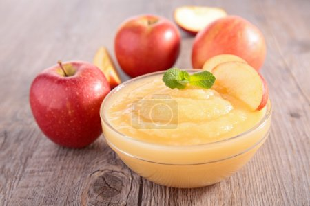 Photo for Bowl of apple sauce - Royalty Free Image