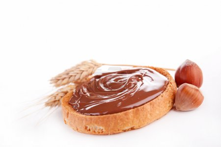 Chocolate spread and toast