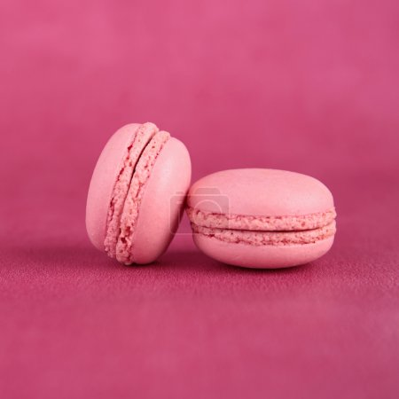 Photo for Macaroons on pink background - Royalty Free Image