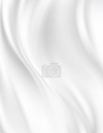 Photo pour Tissu de soie blanc pour abstrait de la draperie - image libre de droit