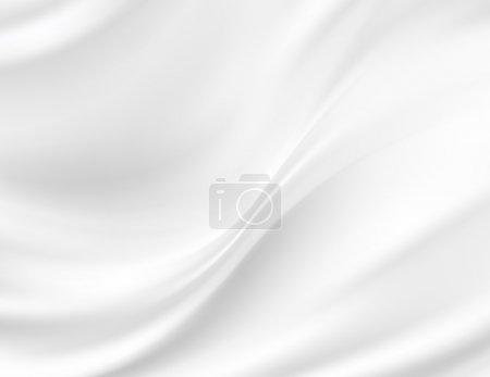 Photo for White Silk Fabric for Drapery Abstract Background - Royalty Free Image