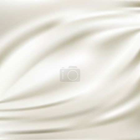 Illustration for White silk fabric for backgrounds, mesh vector illustration - Royalty Free Image