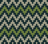 Seamless knitted wool vector green pattern background
