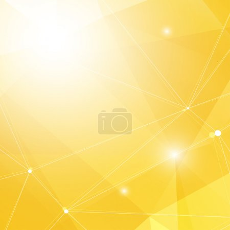 Illustration for Abstract Yellow Triangle Geometrical Background, Vector Illustration EPS10, Contains Transparent Objects - Royalty Free Image