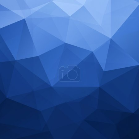 Illustration for Abstract Blue Triangle Geometrical Background, Vector Illustration EPS10 - Royalty Free Image