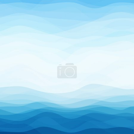 Illustration for Abstract Design Creativity Background of Blue Waves, Vector Illustration EPS10 - Royalty Free Image